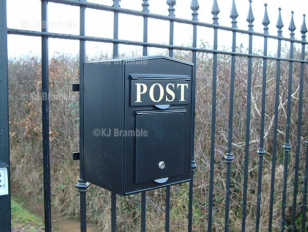 Post Box front opening.