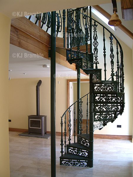 Spiral Stairs,Wrought Iron Spiral Stairs,Somerset