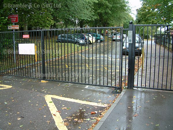 School Electric Gates,Wellesley Park School,Somerset.