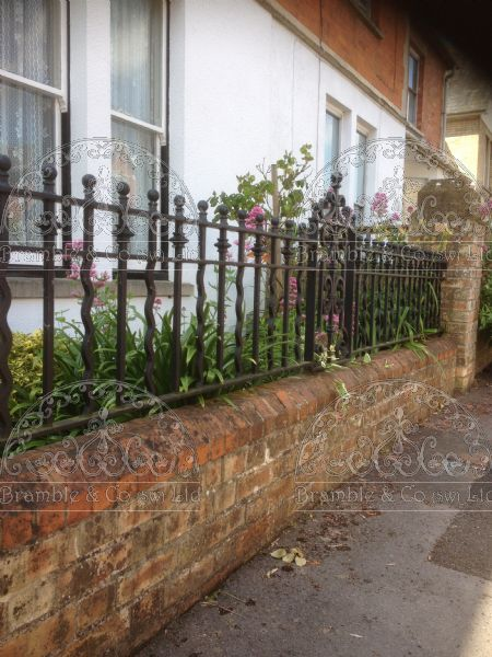 Victorian style railings, made to measure in Somerset