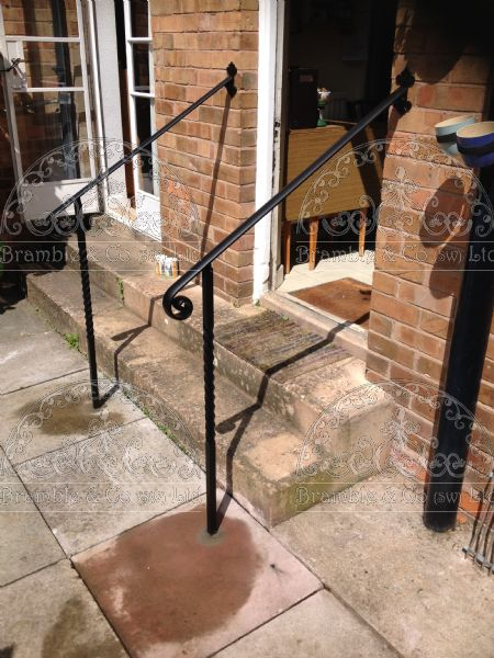 Iron Hand Rails for steps.Devon