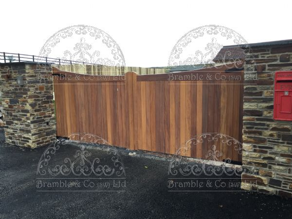 Iroko Hard Wood gates, Barnstaple, Devon