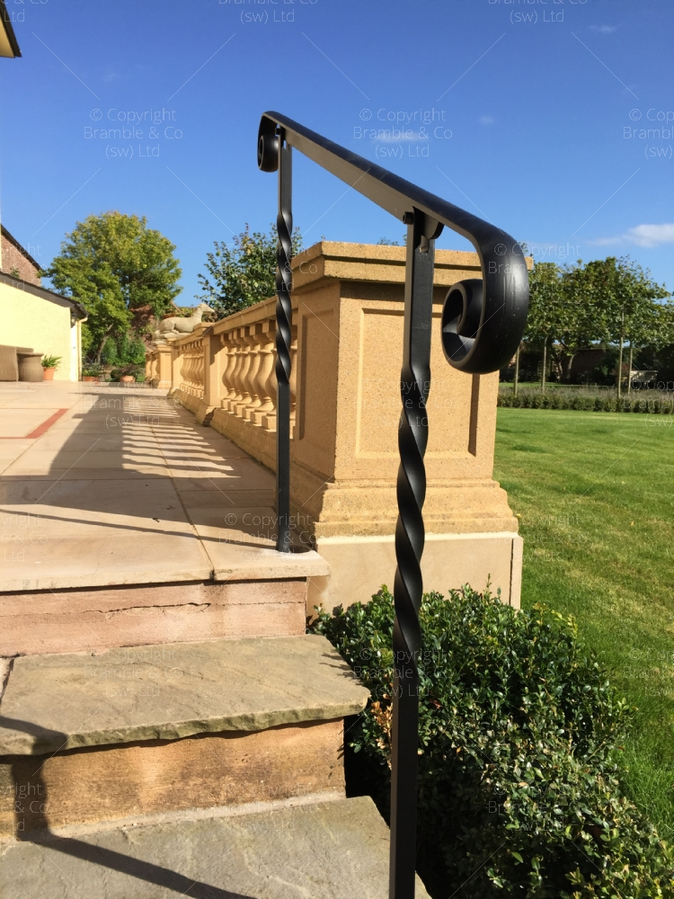 Wrought Iron Hand Rail to steps, Devon and Somerset