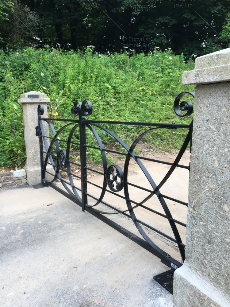 Traditional Wrought Iron Estate Gates, Devon and Somerset