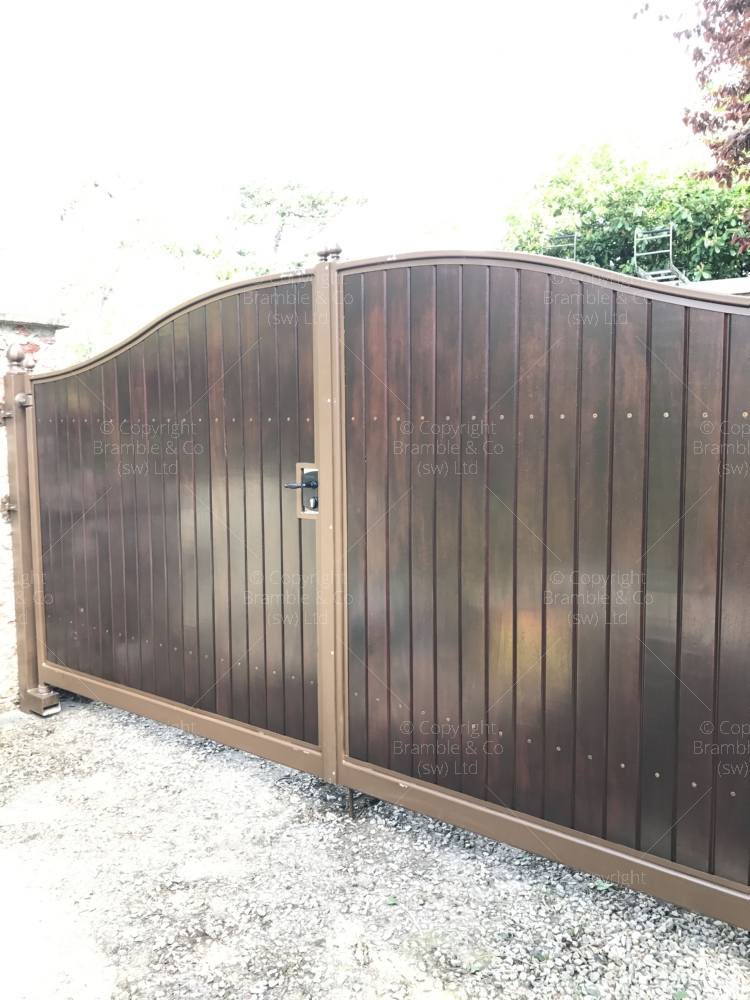 Large Wooden Gates, Exeter, Devon