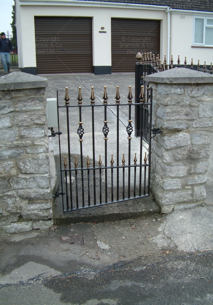 Small gate to front of house, Puriton, Somerset.