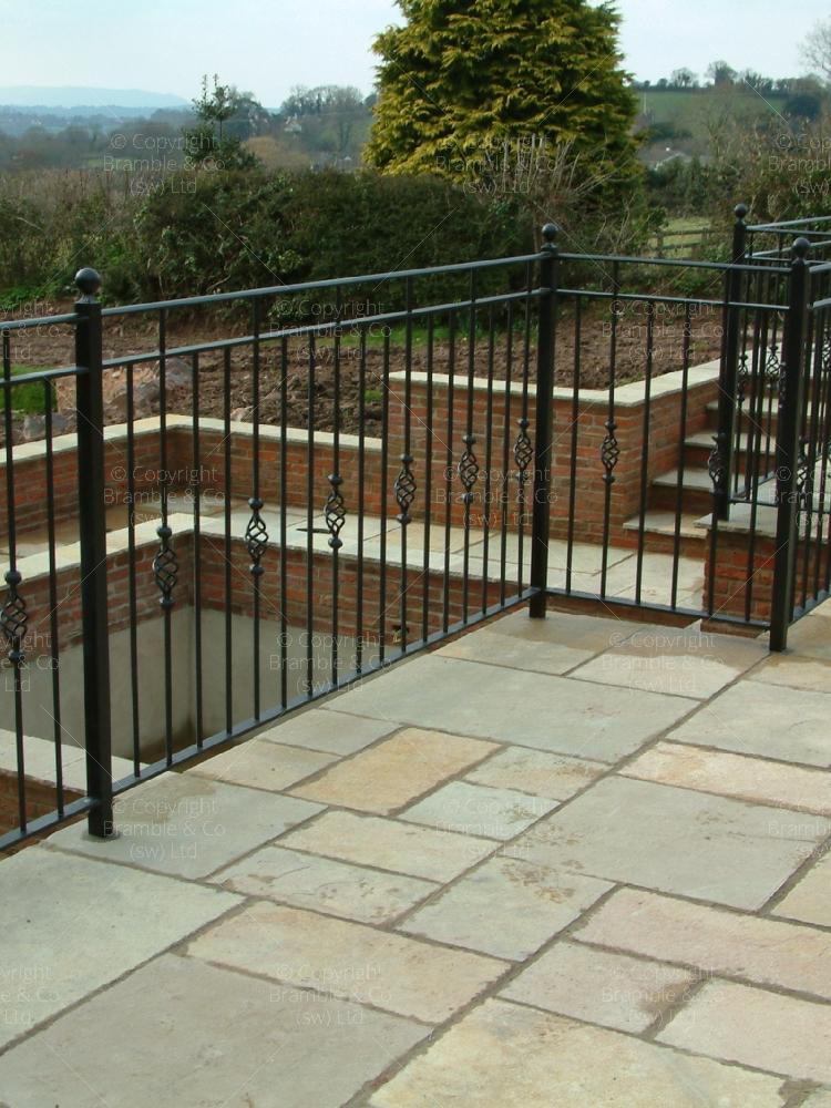 Patio Railings around Ponds and water features, Minehead